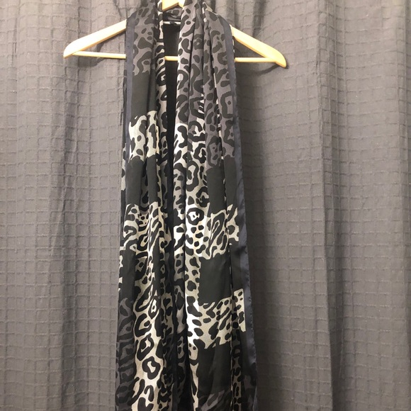 Burberry leopard print silk scarf